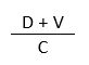 (D plus V) divided by C