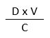 (D multiplied by V) divided by C