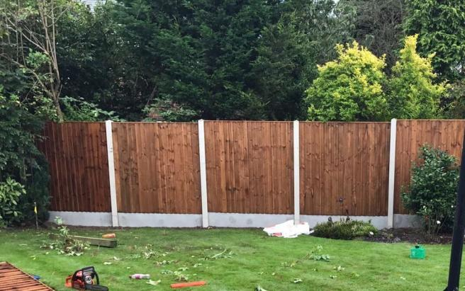 a garden fence made up of