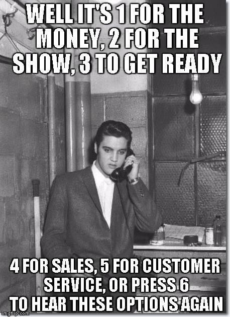 Elvis on the phone