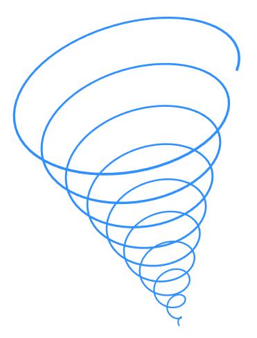A 2d representation of a 3d spiral