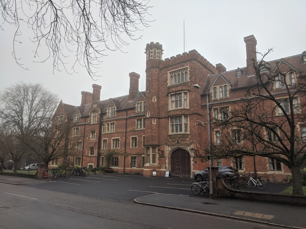 Front entrance to Selwyn College Cambridge