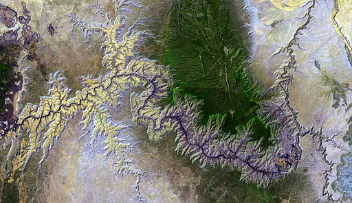 Satellite photo of the Grand Canyon